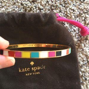 "Euc ""hit your stride"" Kate spade bangle"